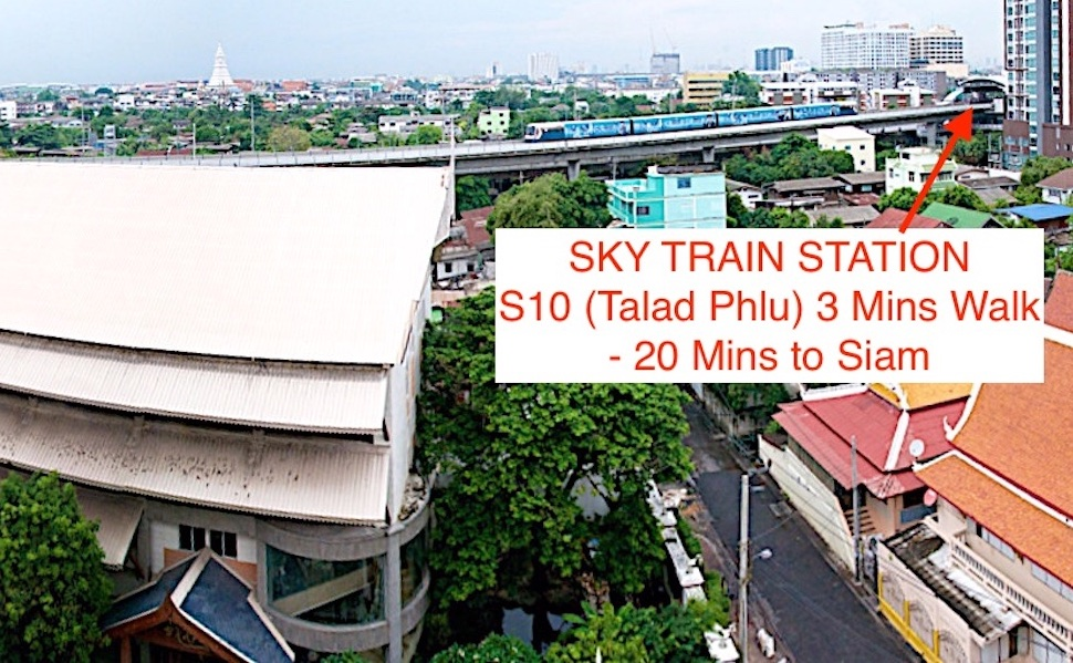 BTS within 3 minutes walk easy access to city center such as Silom, Siam, Sukhumvit.